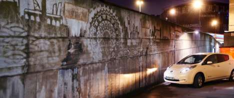 Clean City Graffiti - Nissan Uses Reverse Graffiti to Show Off LEAF's Clean Emissions