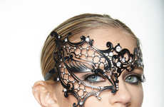 Theatrical Face Adornments - This Masquerade Mask is Perfect for Glamorous Halloween Costumes
