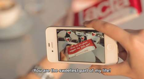 Augmented Chocolate Wrappers - Lacta's Chocolate Packaging Wrapper Hides Secret Messages with AR