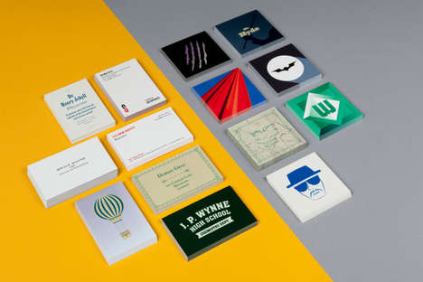 Alter Ego Business Cards - MOO Imagines Square Business Cards for Pop Icons with Double Lives