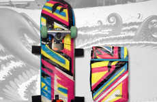 Graffiti Skateboard Bags - The King Cre8 Limited Edition Skateboard Back Pack is a Burst of Colors