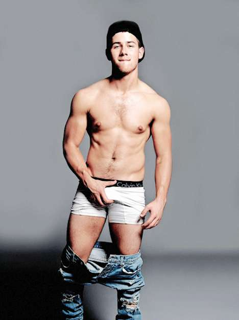 Provocative Teen Star Editorials - Nick Jonas Flaunts What His Momma Gave Him