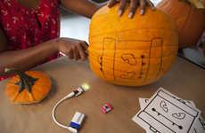 Interactive Jack-O-Lanterns - This DIY Halloween Pumpkin Kit Lights Up with Sound