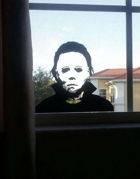 Terrifying Window Decals - This Michael Myers Halloween Decal Celebrates the Horror Film