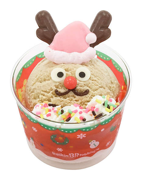 Festive Ice Cream Cups - Baskin Robbins' Christmas Ice Cream is Chilly, but Cheery
