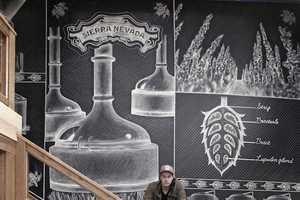 Ben Johnston Creates Large Scale Illustration for the Sierra Nevada Bar