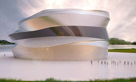 Monumental Mercedes Centers - Mustafa Al-Nuaimi Designs a Fluid Circular Structure Inspired by Cars