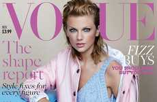Sporty Pastel Fashion - Taylor Swift Covers the Latest Issue of British Vogue