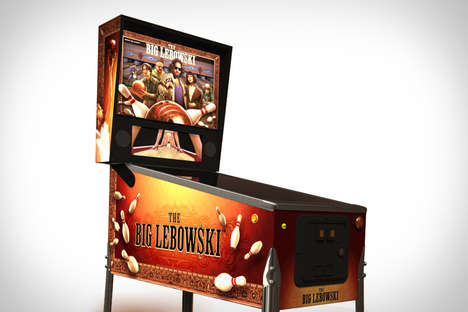 Movie-Inspired Arcade Games - The Big Lebowski Pinball Machine is Made for Die Hard Fans