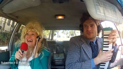 Comedic Car-Made Covers - Mamrie and DJ Flula Take on Dolly Parton and Britney Spears in Auto Tunes