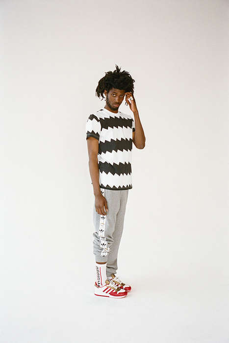 Remixed Vintage Streetwear - The Adidas Originals by NIGO Lookbook Re-Invents the Classics