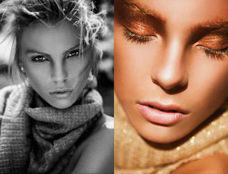 Bronze Beauty Editorials - Glassbook Magazine's Golden Times Feature Makes One Long for Summer