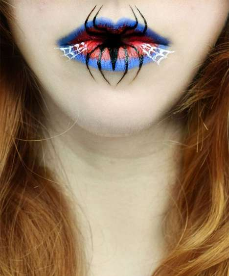 Halloween Lip Art - Eva Senin Pernas Creates Gorgeously Creepy Cosmetic Looks