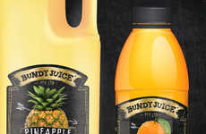 Revitalized Juice Branding - The Bundy Juice Redesign is Contemporary and Fresh