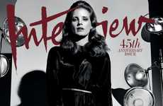 Darkly Seductive Editorials - Actress Jessica Chastain Stars in the Latest Cover Shoot for Interview