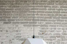 Angular Aluminum Lighting - This Geometric Light Fixture Boasts a Sculptural Shape