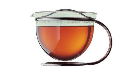 Bowl-Based Brewers - The Mono-Filio Round Frame Teapot is a Beautiful Suspended Bulb