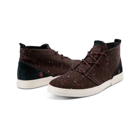 Subdued Seasonal Footwear - The Holiday Volcom Men's Shoes Feature Subtle Holiday Colors & Materials