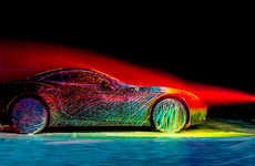 The State of the Art Ferrari Project Uses Neon Paint to Demonstrate Speed