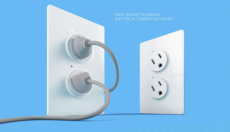 Swivel-Switch Sockets - The TwistPlug Requires an Easy Rotation to Turn off the Electrical Current