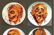 Frightening Flapjack Designs - These Zombie Pancakes are Horrifying Halloween Breakfast Ideas