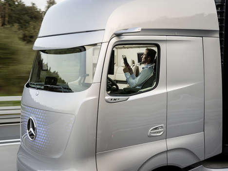 Luxury Self-Driving Trucks - The Mercedes-Benz Future Truck Will Save Thousands of Lives a Year