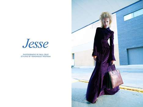 Futuristic Ladylike Fashion - Photographer Paul Cruz Captures Model Jesse Stewart in Fall Style