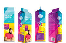 Milk Carton Resumes - Samuel Profeta's Creative Student Resume is Presented Like a Milk Product