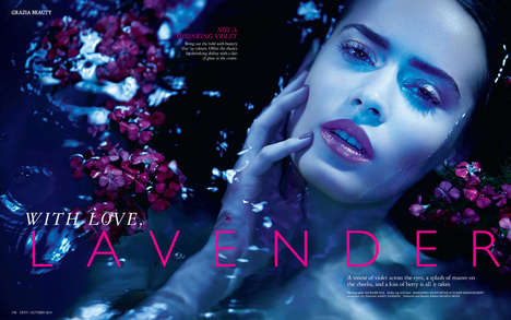Sublime Violet Editorials - Grazia India's With Love, Lavender Story Highlights Purple Makeup Looks