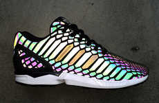 Reflective Snakeskin Sneakers - The Adidas Originals ZX Flux Sneaker Introduces a New Material