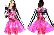 Pink Polymer Apparel - Shop Jeen's PVC Overalls are Youthful and Raver-Themed