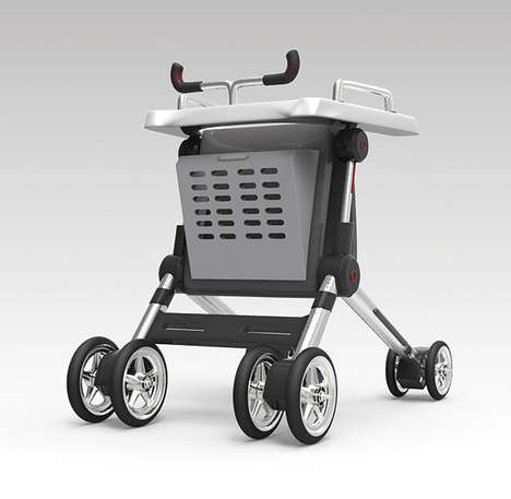 Dextrous Ambulation Aids - The PARTNIKU Walker is Dynamic, Adjustable and Includes Storage Space