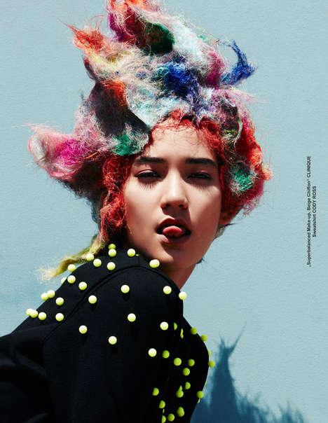 Playfully Avant-Garde Portraits - TUSH Magazine's Takahiro Ogawa Story Boasts Conceptual Fashions
