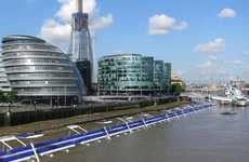 Buoyant Biking Lanes - This Proposed Floating Cycle Path Would Go Over the River Thames in London