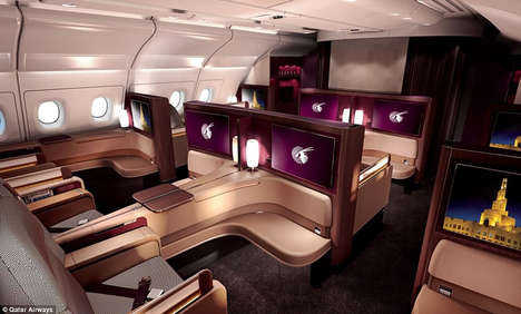 Luxury Airplane Suites - Qatar Airways First Class Offers Caviar and a Spa-Like Washroom