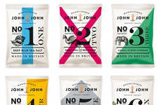Sophisticated Chips Branding - John & John Crisps Boasts a Contemporary and Upscale Image
