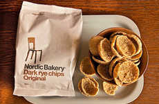Scandinavian Rye Chips - The Nordic Bakery Introduces a Healthy Snacking Option