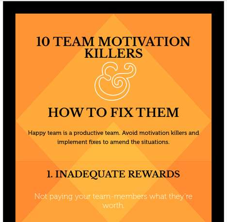 Unmotivated Worker Tips - The Chart Identifies Performance Hindrances and Offers a Motivation Boost