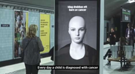 Hair-Raising Cancer Ads - The Swedish Childhood Cancer Foundation Shares a Hair-Raising Message