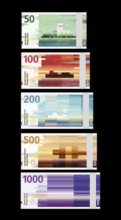 Pixelated Banknote Makovers - The Norway Krone's Modern Redesign is Set to Roll Out in 2017