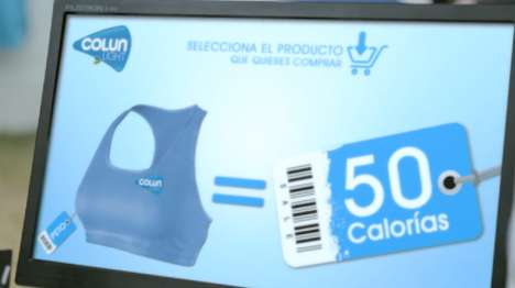 Calorie Currency Shops - The Colun Pop-Up Store Had People Burn Calories to Take Home Workout Gear