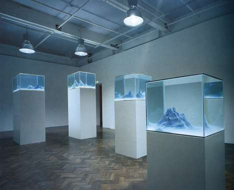 Fish Tank Art - Mariele Neudecker's Aquarium Sculptures are Lifelike Mini Dioramas