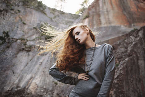 Capricious Canyon Lookbooks - The YLVA Lookbook Stars Julie Cross