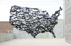 Michael Murph's Gun Art Sculpture Comments on America's Weapon Laws