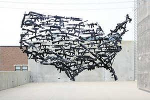 Michael Murph's Gun Art Sculpture Comments on America's Weapon Laws