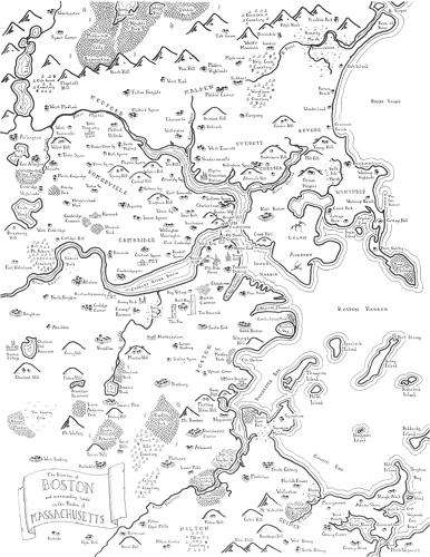 American Fantasy Maps - Geographer Stentor Danielson Envisions US Cities as Imagined Places