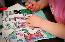 Washable Coloring Mats - This Reusable Mat Includes Washable Markers