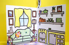 Collapsible Coloring Homes - The Colorin House is a Mobile Play Station