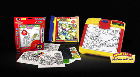 Interactive Coloring Boards - T-Ink Technologies Conceptualized Touch-Sensitive Coloring Tools