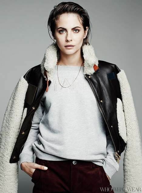 Stylish Winter Outerwear - Actress Willa Holland Models Cozy Fashion for Who What Wear